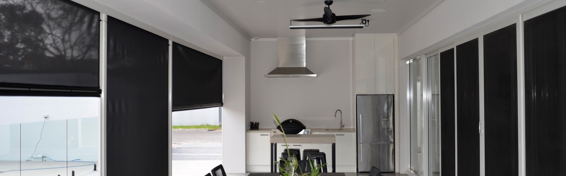Outdoor Fans | Outdoor Heaters | Inviron Blinds Adelaide