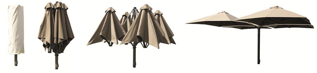 Multi Mast Cantilever Umbrella