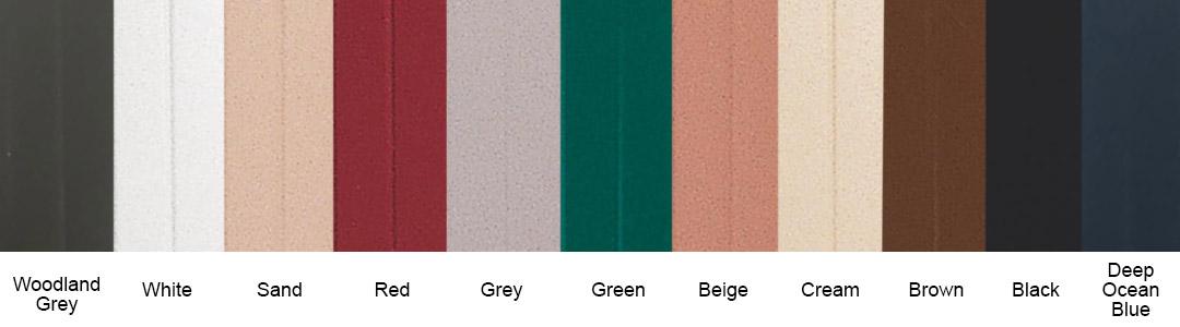 Roller Shutter Colour Options