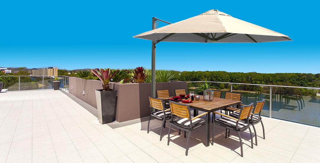 Rotating Cantilever Umbrellas Adelaide